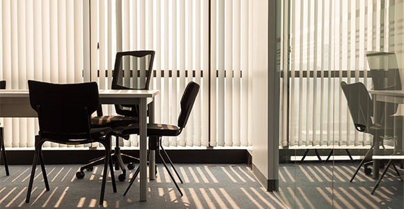Fire retardant vertical blinds available in a range of colours at fantastic prices