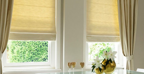 Beautiful handmade neutral roman blinds in a variety of versatile shades and fabric types