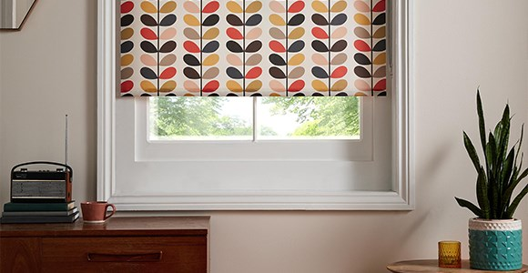 Three of Orla Kiely's most iconic designs crafted into made to measure roller blinds in just 1-2 day