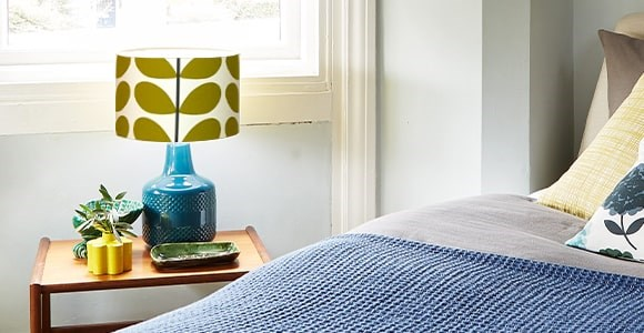Lampshades in a selection of sizes and Orla Kiely prints