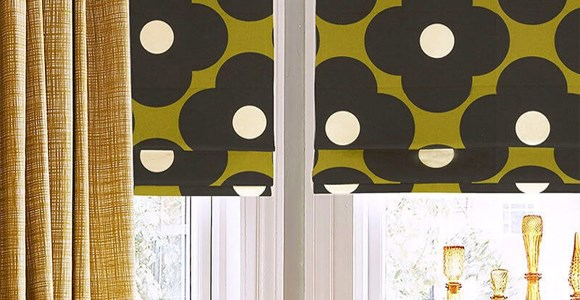 Stunning roman blinds in Orla Kiely's iconic prints, handmade with care in the UK