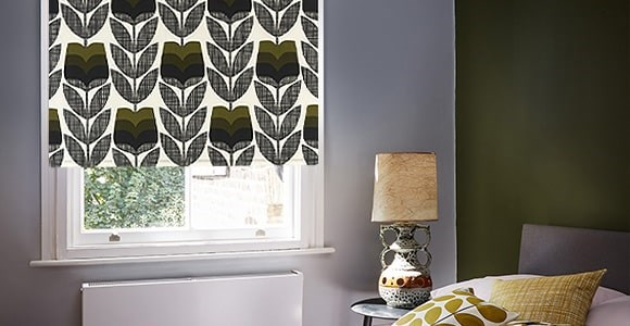Orla Kiely Roller Blinds made from beautiful soft fabric that is laminated for extra stability