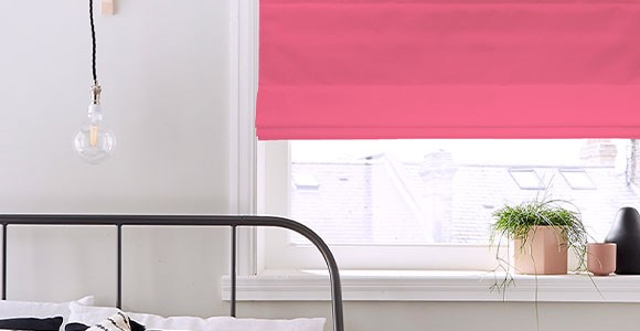 A beautiful collection of made to measure roman blinds in a rainbow of stunning colours