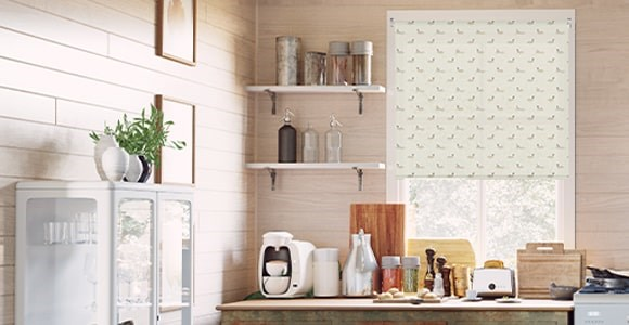 Blinds and lampshades in Sophie Allport prints.