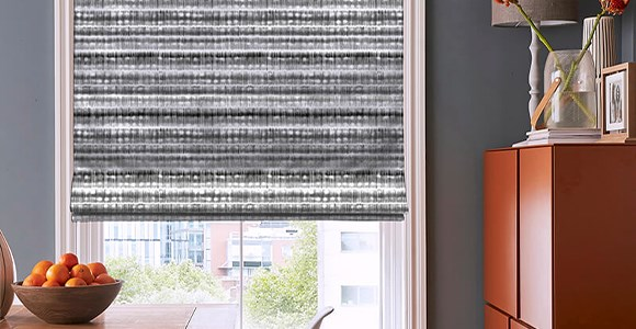A beautiful collection of classic and contemporary striped roman blinds in many colours