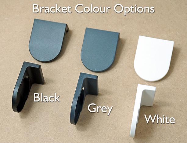 Bracket Colour Options for Roller Blinds