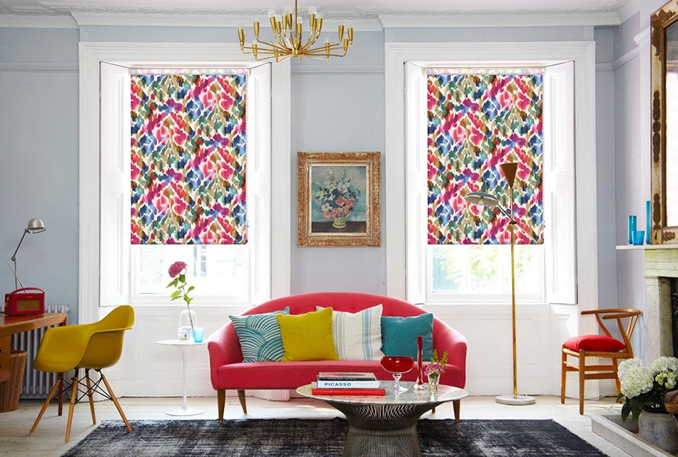 A picture of Burst Pink Roller Blinds