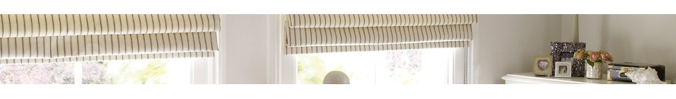 Get a designer look with Roman blinds