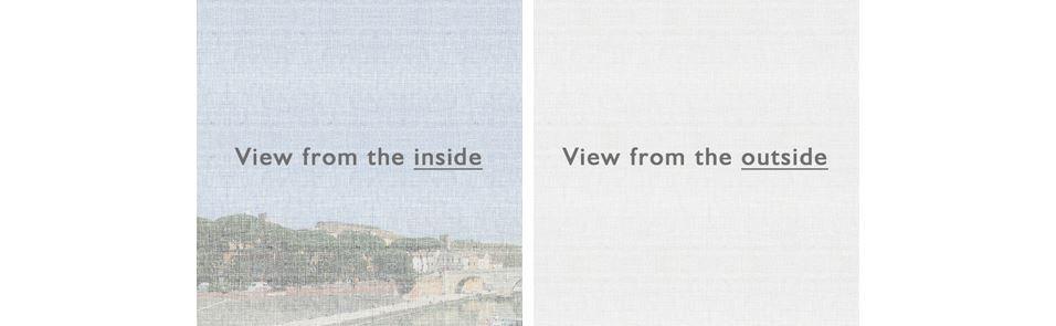 View through sunscreen fabric