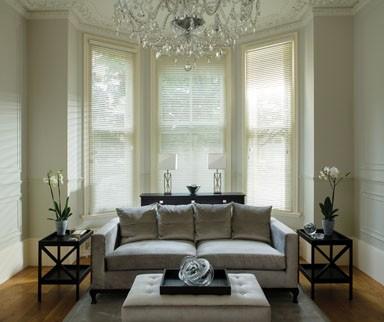 White real wood venetian blinds