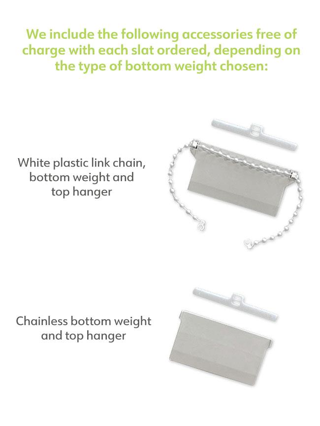 Replacement slat bottom weight