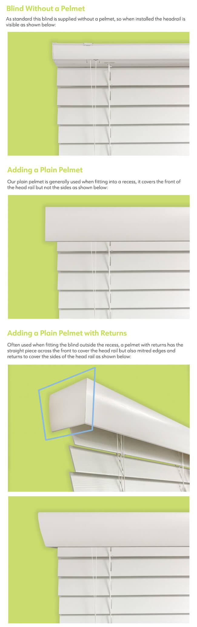 Decorative Pelmet Options