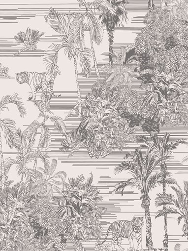 Tropical Toile Natural Roller Blind by Boon & Blake