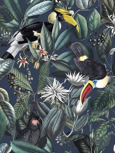 NeoTropical Marine Jungle Roller Blind
