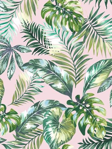 Sumatra Blush Jungle Roller Blind