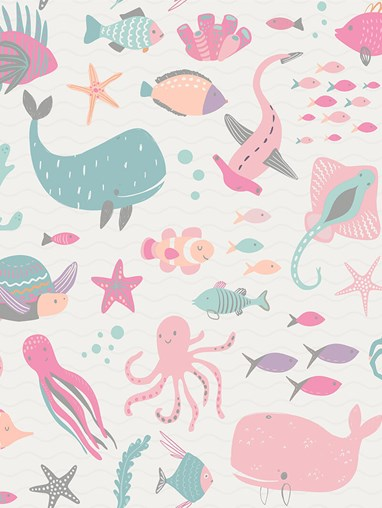 Under The Sea Candy Blackout Roller Blind