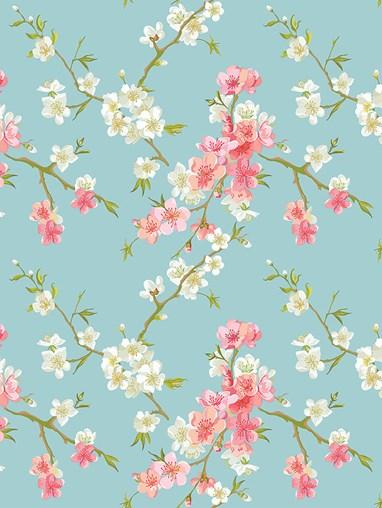 Cherry Blossom Roman Blind