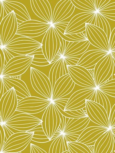 Starflower Mustard Roman Blind