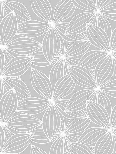 Starflower Pale Grey Roman Blind