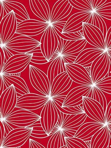 Starflower Red Roman Blind