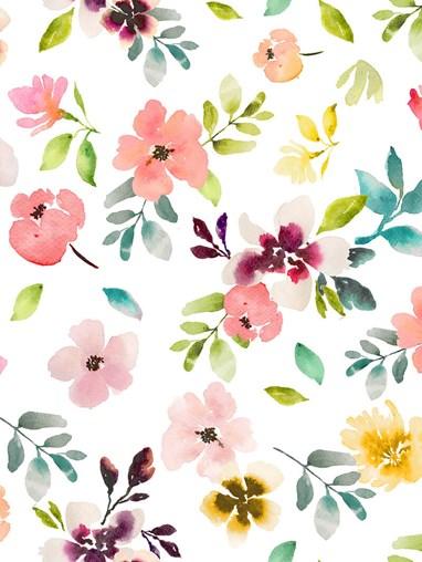 Wildflower Dawn Roman Blind