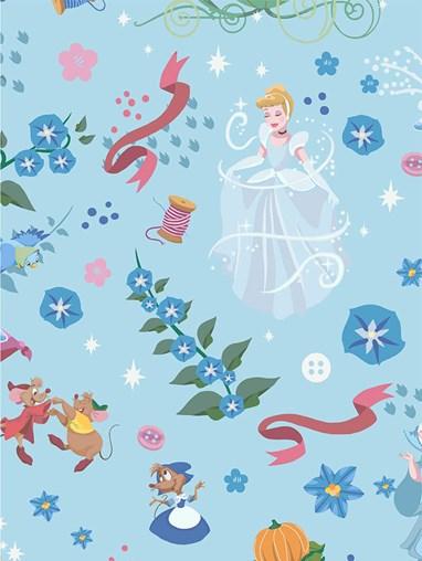 Disney Cinderella Blackout Cordless Spring Loaded Roller Blind