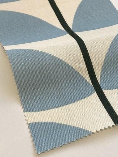 Orla Kiely Two Colour Stem Powder Blue Soft Fabric Roller Blind