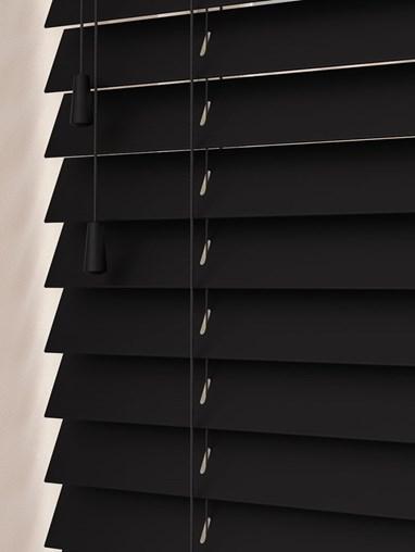 Black Real Wood Venetian Blind