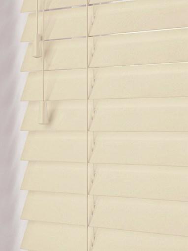 Gloss Creme 50mm Real Wood Venetian Blind
