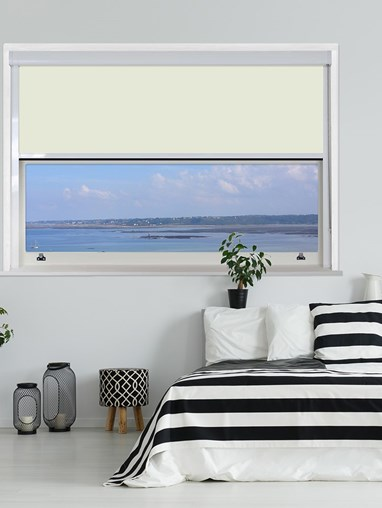Ivory Chain Operated Total Blackout Roller Blind