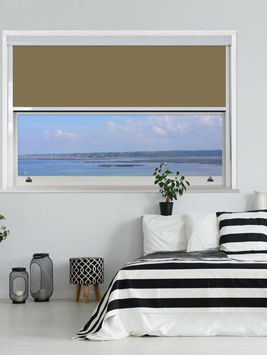 Toffee Crunch Chain Operated Total Blackout Roller Blind