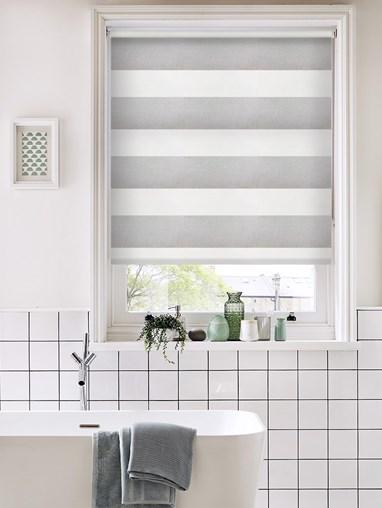 Portsmouth Stripe Grey Daylight Roller Blind