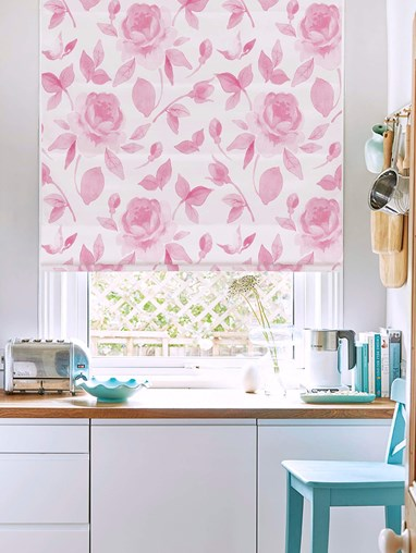 A Rose Like This Floral Roman Blind