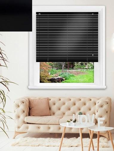 Simplicity Black Aluminium Venetian Blind