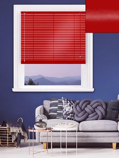 Gloss Red 25mm Aluminium Venetian Blind