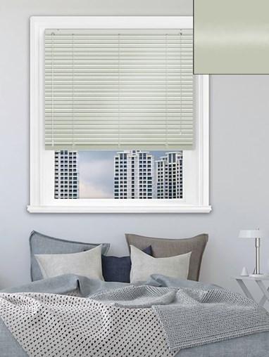 Gloss Light Grey 25mm Aluminium Venetian Blind