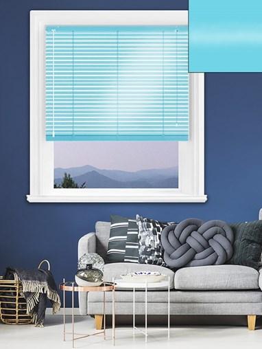 Gloss Blue 25mm Aluminium Venetian Blind