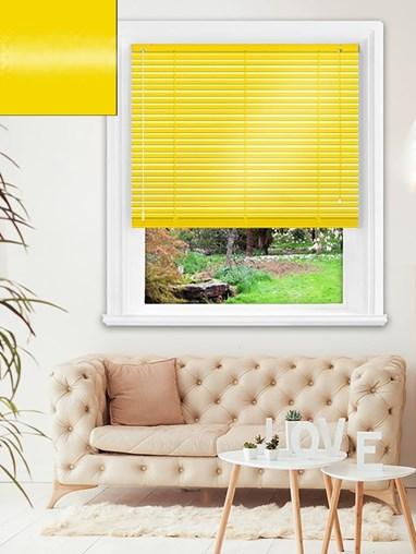 Gloss Sunshine 25mm Aluminium Venetian Blind