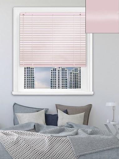 Gloss Pale Pink 25mm Aluminium Venetian Blind
