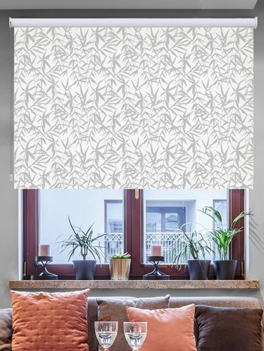 Bamboo Shadows Floral Roller Blind