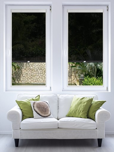 Black 3% Sunscreen Perfect Fit Roller Blind