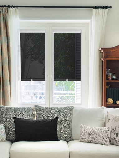 Black Smoke 3% Sunscreen Perfect Fit Roller Blind