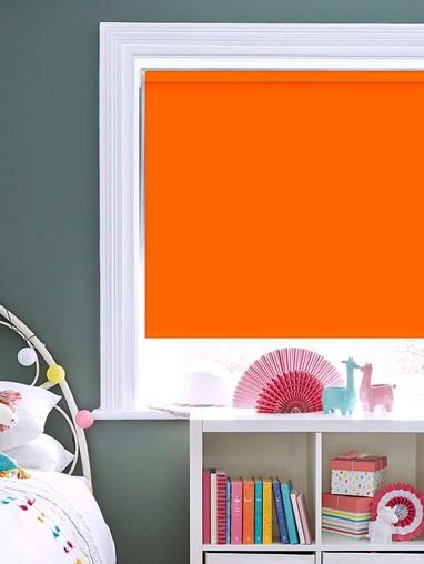 Blackout Action Orange No Drill Roller Blind