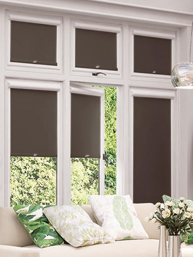 Blackout Dark Chocolate Perfect Fit Roller Blind