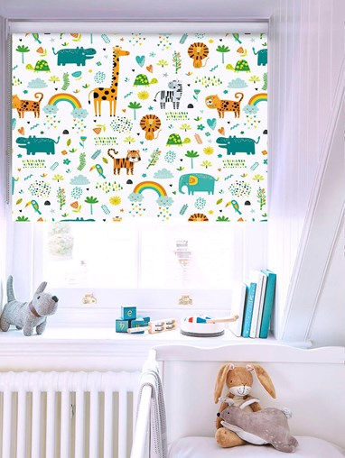 Blackout Happy Jungle Sky No Drill Roller Blind