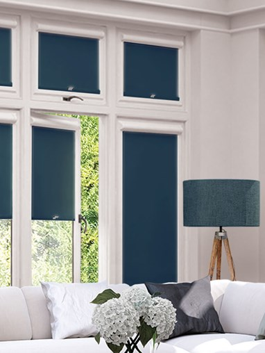Blackout Navy Perfect Fit Roller Blind