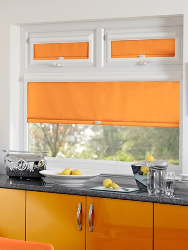 Blackout Tangerine Perfect Fit Roller Blind