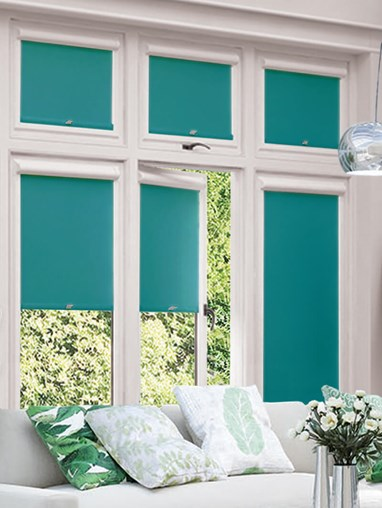Blackout Teal Perfect Fit Roller Blind
