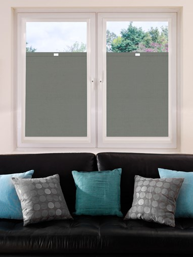 Perfect Fit Blackout Elegant Grey Premium Bottom Up Blind