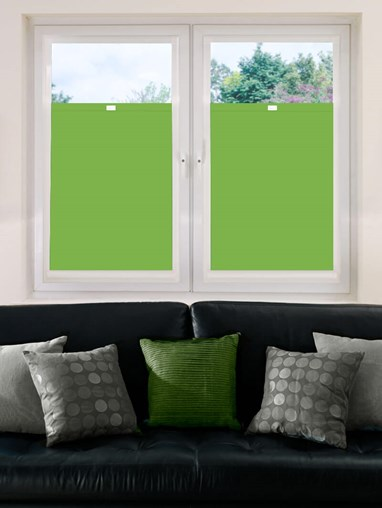 Perfect Fit Blackout Grasshopper Green Bottom Up Blind